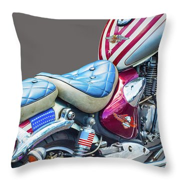 Throw Pillow featuring the photograph Harley by Charuhas Images