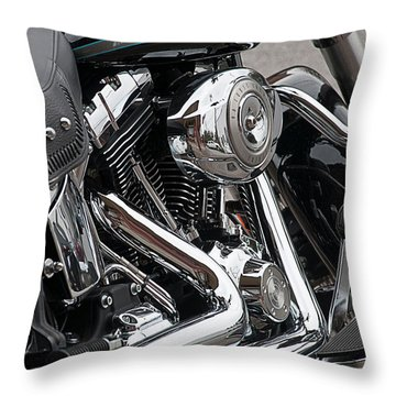 Harley Chrome Throw Pillow