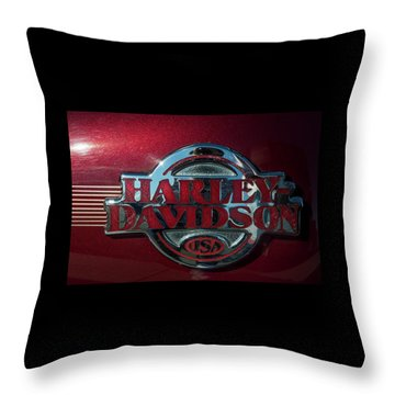 Harley Davidson 12 Throw Pillow