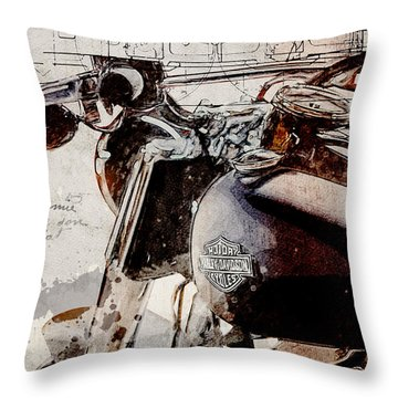 Harley Davidson 2014 Softail Deluxe Throw Pillow