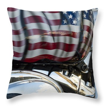Harley Davidson 7 Throw Pillow by Wendy Wilton