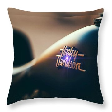 Harley Davidson Cycle Throw Pillow