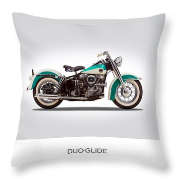 Harley-davidson Duo-glide Throw Pillow by Mark Rogan