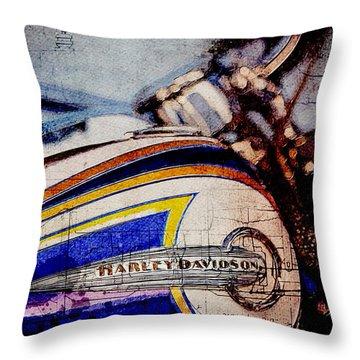 Harley Davidson Flstnse Cvo Softail Deluxe Throw Pillow