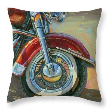 Harley-davidson Heritage Softail Throw Pillow