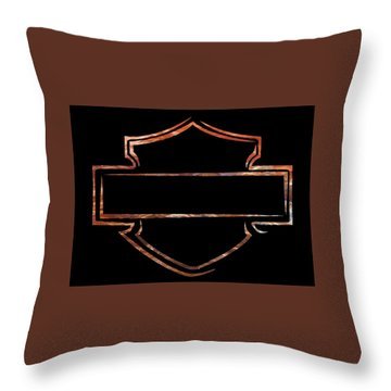 Throw Pillow featuring the digital art Harley Davidson  by Jamie Lynn
