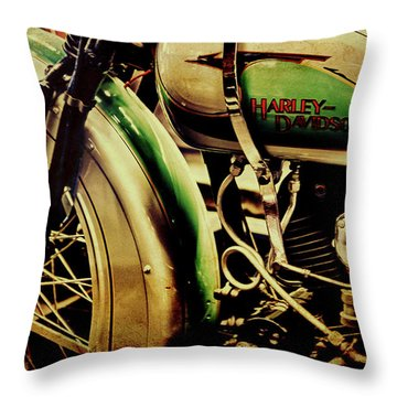 Throw Pillow featuring the photograph Harley Davidson by Joel Witmeyer