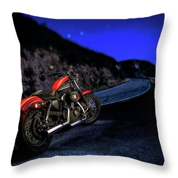 Harley Davidson Nightster Throw Pillow by YoPedro