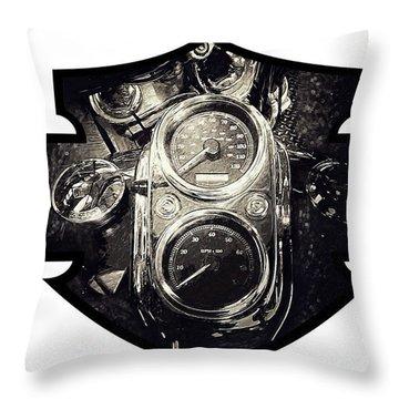 Harley Davidson Speedometer Throw Pillow