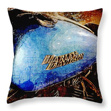 Harley Davidson Street Bob Throw Pillow