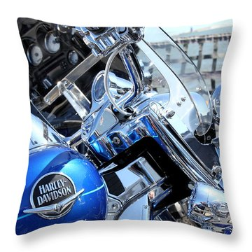 Harley-davidson Throw Pillow by Valentino Visentini