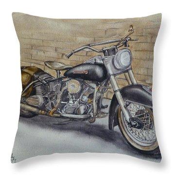 Harley Davidson Vintage 1950's Throw Pillow