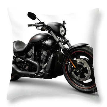 Harley Davidson Vrscd Night Rod Special  Throw Pillow by Oleksiy Maksymenko