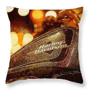 Harley Davidson Xl1200v Seventy Two Throw Pillow
