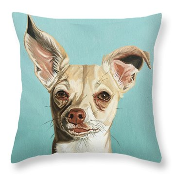 Harley Throw Pillow by Nathan Rhoads