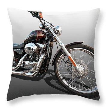 Harley Sportster Xl1200 Custom Throw Pillow