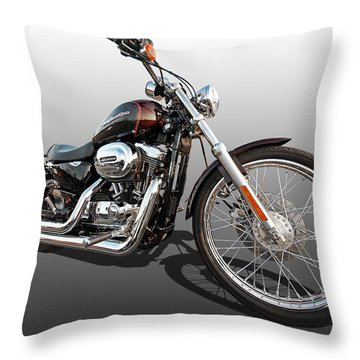 Harley Sportster Xl1200 Custom Throw Pillow