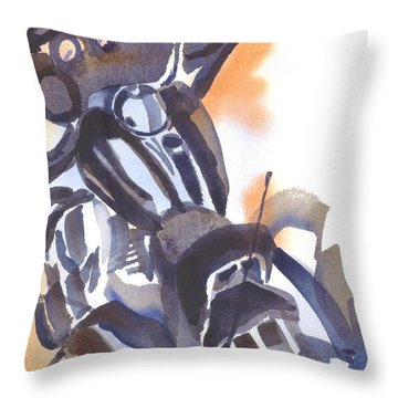 Motorcycle Iv Throw Pillow