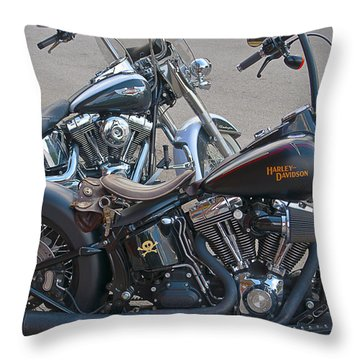Harleys Throw Pillow