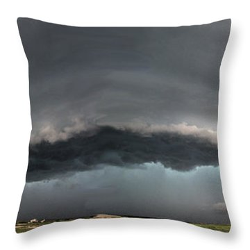 Harlowton, Montana, Supercell Throw Pillow
