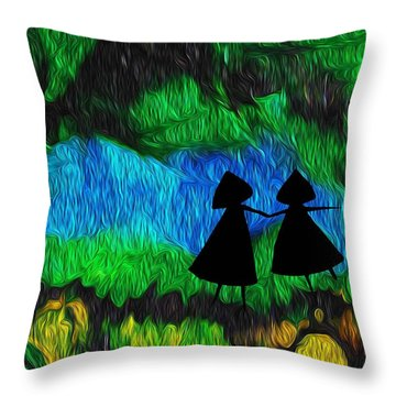 Harlyn And Griffyn Are Unspeakably Lost Throw Pillow