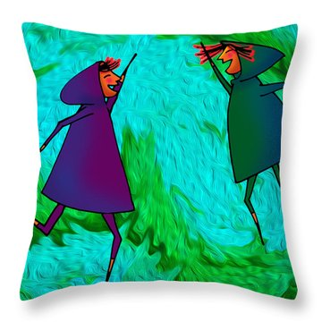 Harlyn And Griffyn High Five Throw Pillow