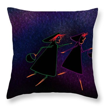 Harlyn And Griffyn Run To The Light Throw Pillow
