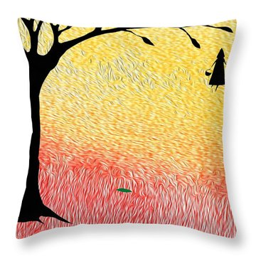 Harlyn And Griffyn Set Out Throw Pillow