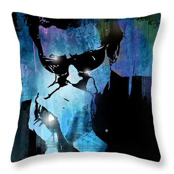Harmonica Blues Throw Pillow