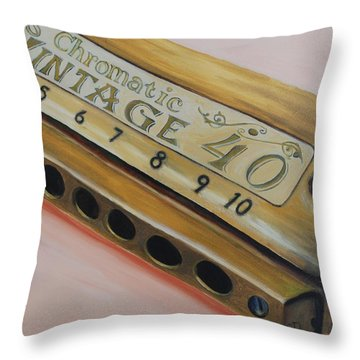 Harmonica Throw Pillow