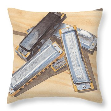 Harmonica Throw Pillows