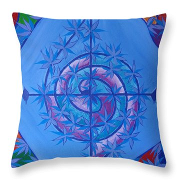 Harmonious Life Cross Throw Pillow