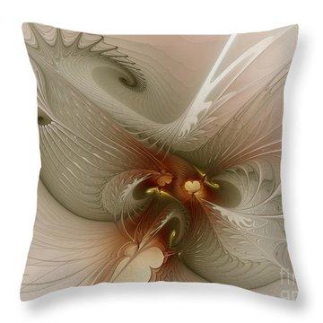 Throw Pillow featuring the digital art Harmonius Coexistence by Karin Kuhlmann