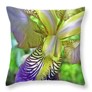 Harmony 4 Throw Pillow by Lynda Lehmann