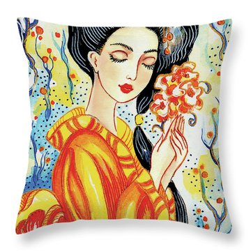 Harmony Flower Throw Pillow