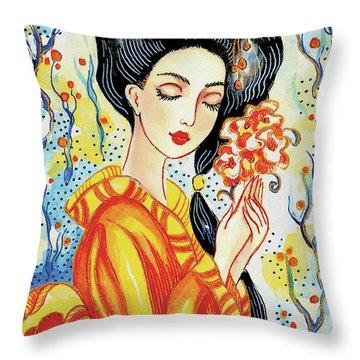 Harmony Flower Throw Pillow