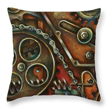 Machines Throw Pillows