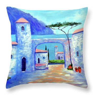 Harmony Of Como Throw Pillow