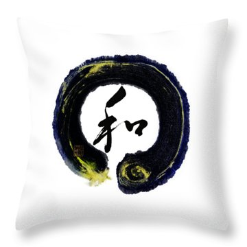 Harmony - Peace With Enso Throw Pillow