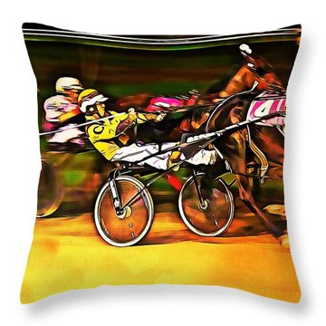 Harness Race #2 Throw Pillow