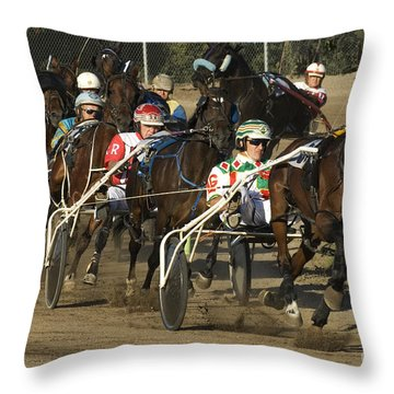 Harness Racing 9 Throw Pillow