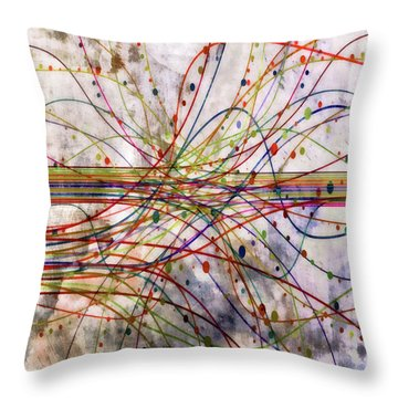 Throw Pillow featuring the digital art Harnessing Energy 1 by Angelina Vick