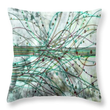 Throw Pillow featuring the digital art Harnessing Energy 3 by Angelina Vick