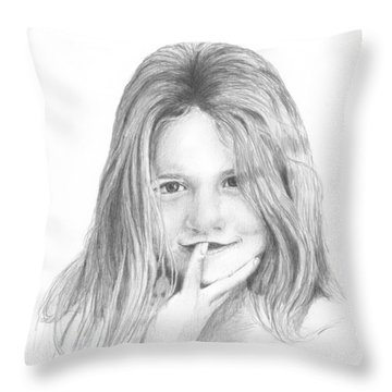 Throw Pillow featuring the photograph Harper Age Six by Daniel Reed
