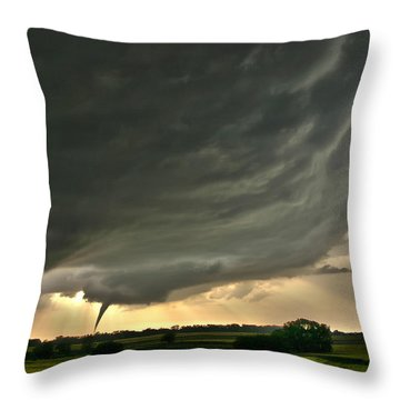 Harper Kansas Tornado Throw Pillow