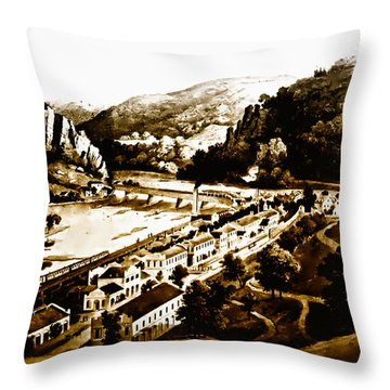 Harpers Ferry Throw Pillow by Bill Cannon