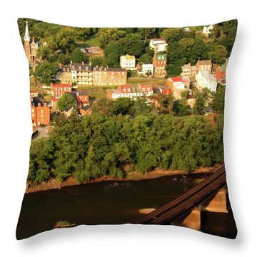 Throw Pillow featuring the photograph Harpers Ferry by Mitch Cat