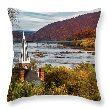 Harpers Ferry, West Virginia Throw Pillow