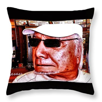 Throw Pillow featuring the photograph Harried Harry by Sadie Reneau