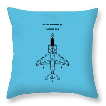Harrier Gr5 Throw Pillow